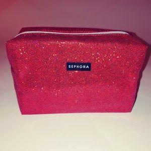 Sephora Red Sparkle Make up Case
